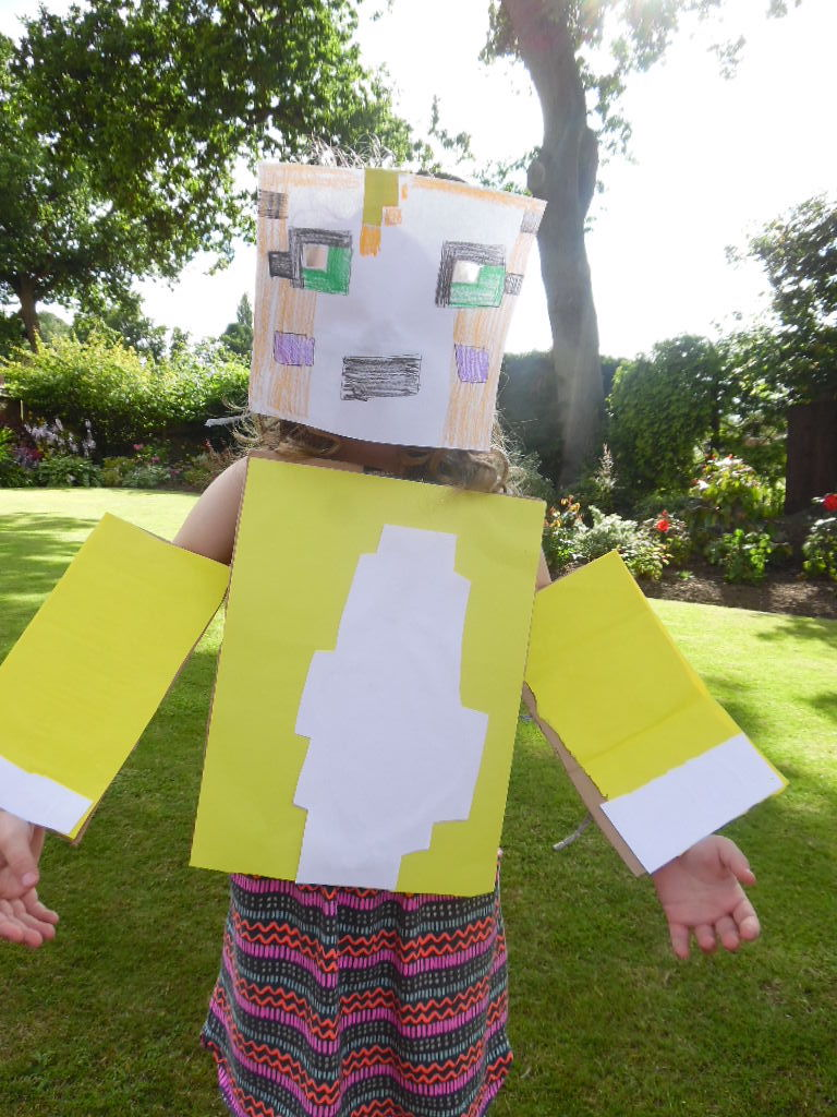 Aliza Minecraft creation in real life